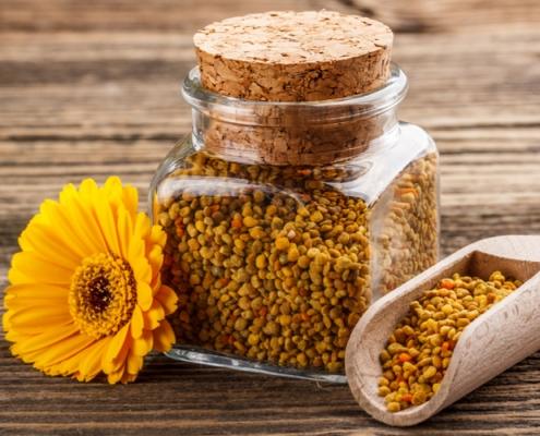 benefici del polline d'api